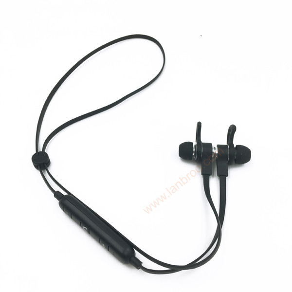 Magnetic suction wireless bluetooth earphone with Volume control