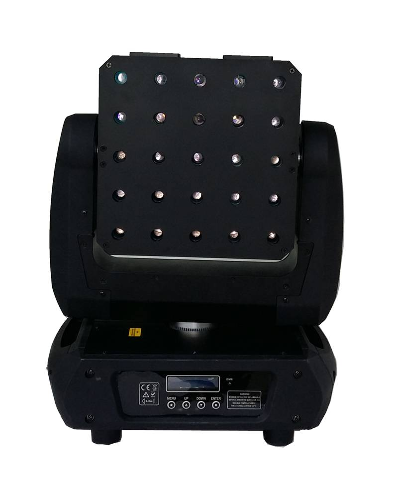25 matrix moving head laser,Total dimmer and each dimmer, beam and strobe effect