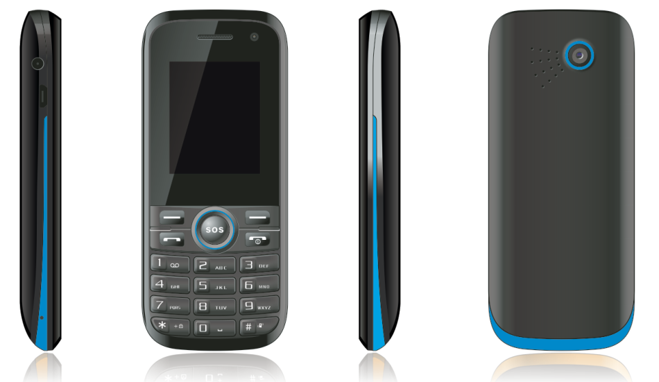 1.77inch feature phone 2G phone with SC7701 chipset and 64MB + 128MB memory