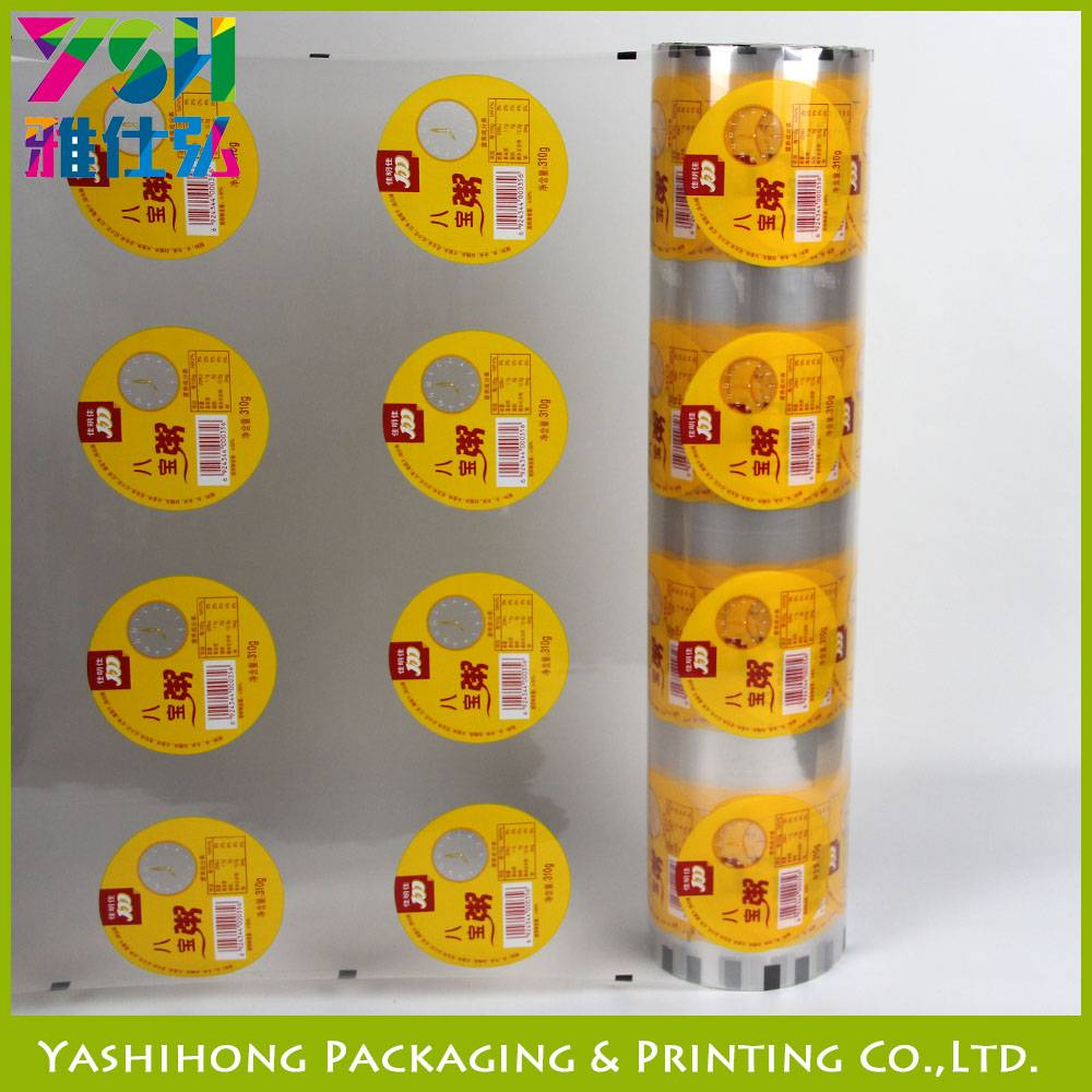 jelly cup sealling plastic roll film