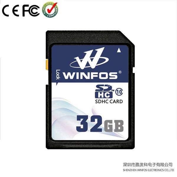 Winfos Class 10 High Speed SDHC Card with Real Capacity