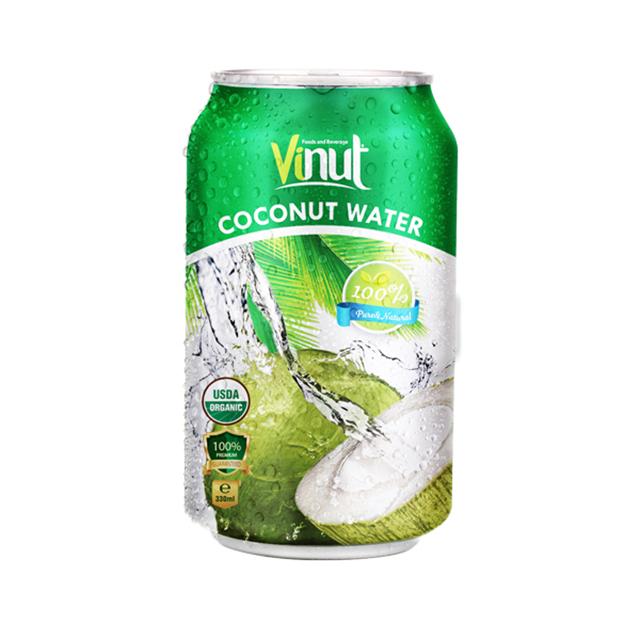330ml Can Coconut water Organic (USDA Organic, EU Organic)
