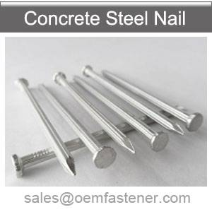 Concrete nails with fluted shank