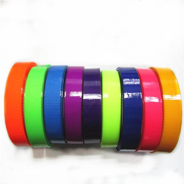 bright color flexible TPU coated nylon webbing