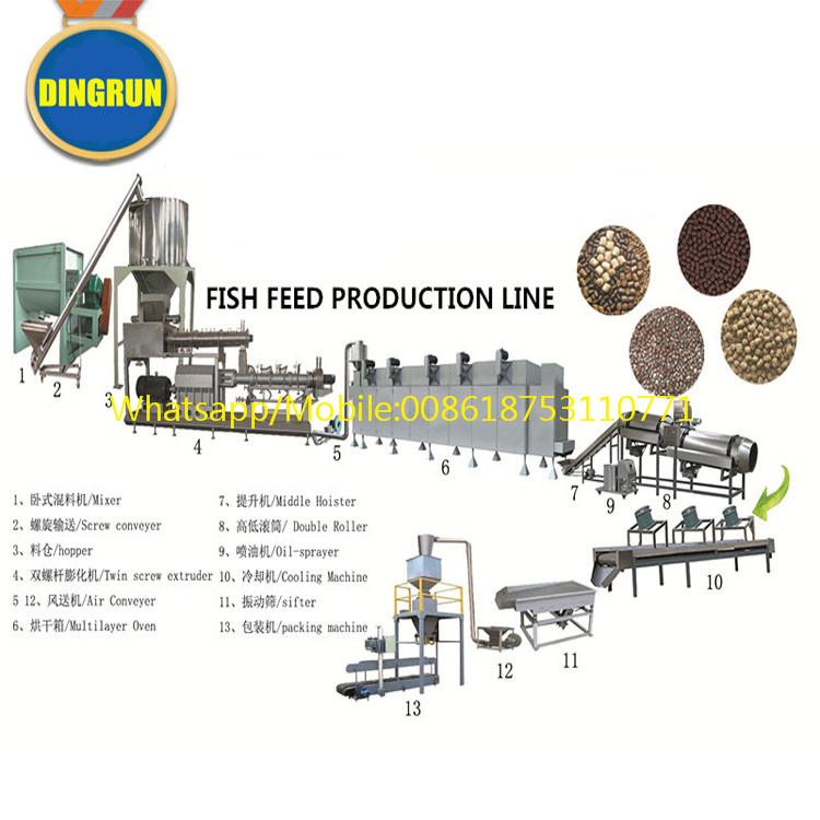 Fish feed machine floating fish feed extruder machine