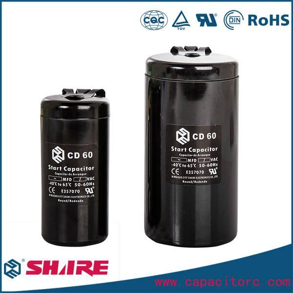 CD60 AC motor start capacitor 50uf to 1000uf