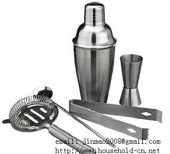 Cocktail Set, Wine shaker, Ice bucket,Wine flask, Bar compass, Bottle stopper, Wine bottle rack&#652