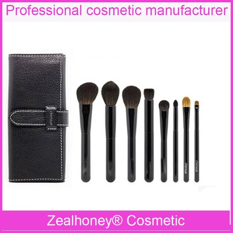 7 PCS Natural hair makeup brush wholesale free sample makeup brush
