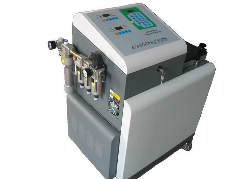 Hot melt coater machine