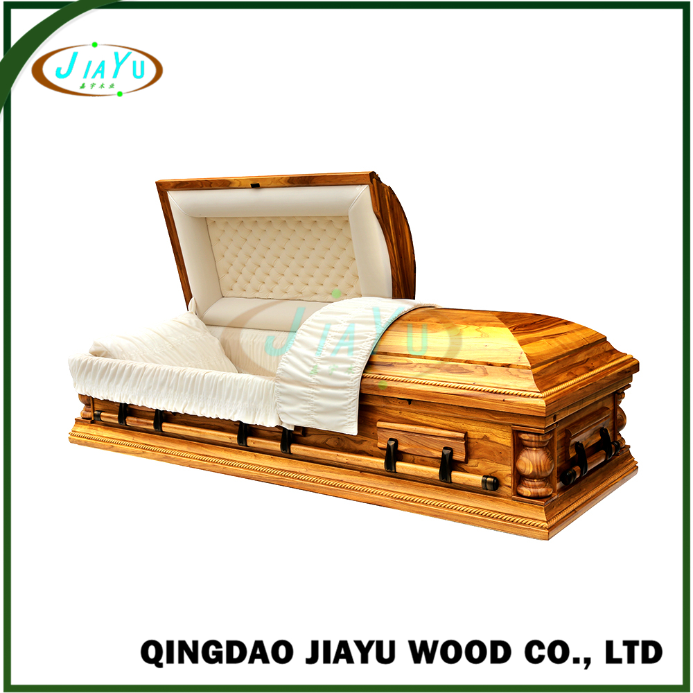 Best selling US style professional solid wood china caskets for adult