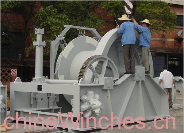 Electro hydraulic anchor marine winch windlass