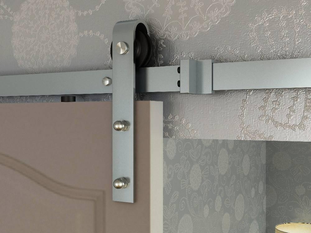 silver finish barn door hardware sliding door hardware