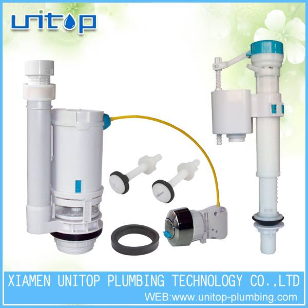 Toilet repair kits for toilet flush mechanism