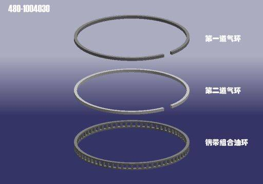 Chery auto accessories-piston ring high quality export to Iran