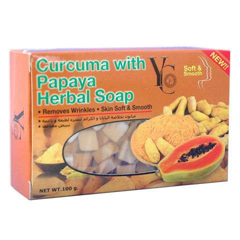 Curcuma With Papaya Herbal Soap