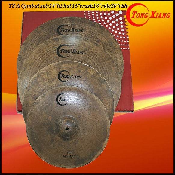 Tongxiang b20 handmade TZ-A original black drum cymbals for drumset