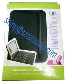 Wireless Bluetooth Keyboard Leather Case for ipad 1 IPAD2 10.2 Inch