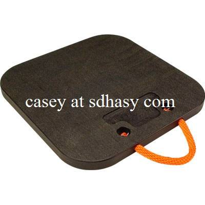 HDPE black and yellow crane outrigger pad /plastic foot pad