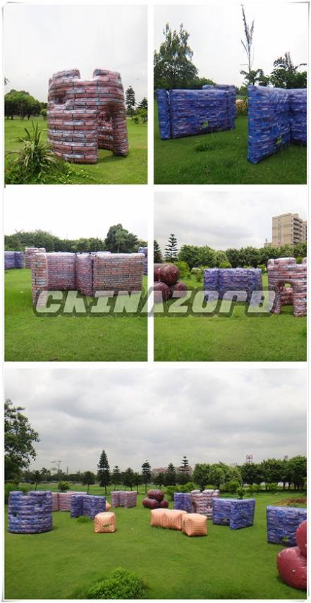 Very popular outdoor sports games inflatable paintball bunker good quality