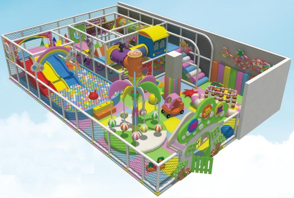 Educational soft padded playground equipment