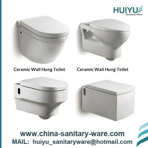 Bathroom sanitary ware wall mounted toilet