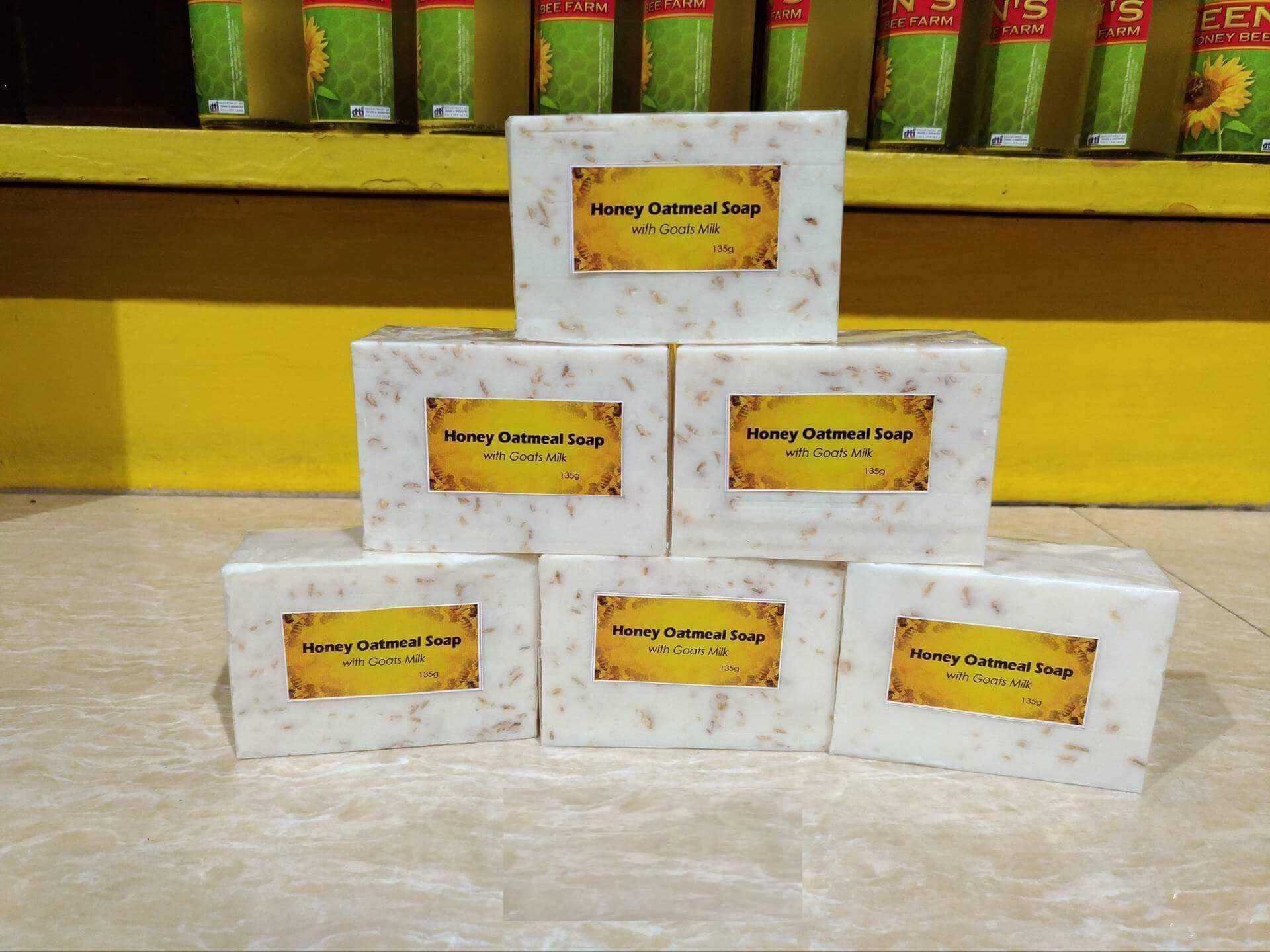 Honey Oatmeal Soap with goats milk - 135g