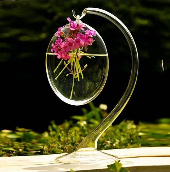 hanging glass terrarium with glass frame