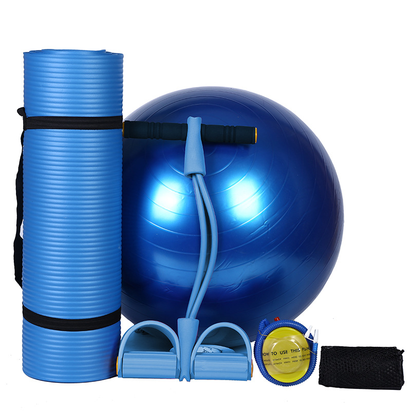 Yoga mat and yoga ball