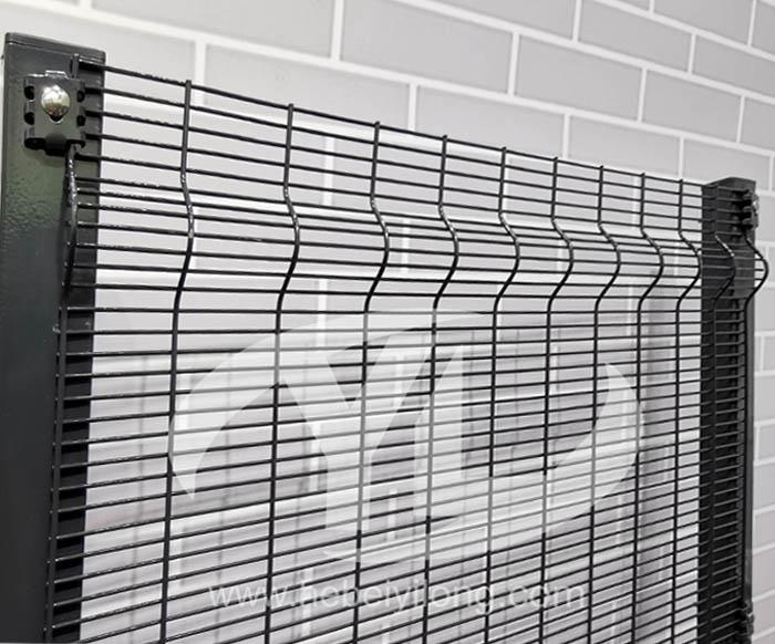 Climb the protective fence
