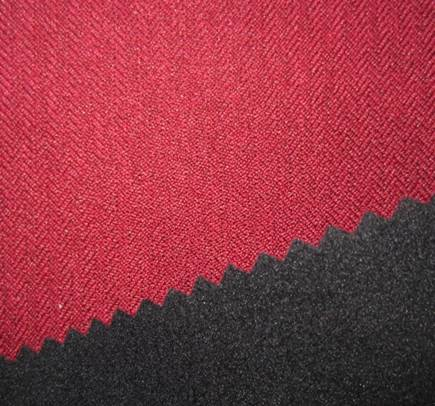 150D cationic herringbone twill fabric+TPU+fleece