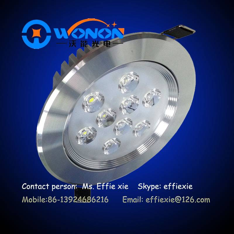9w dimmable recessed led ceiling lighting