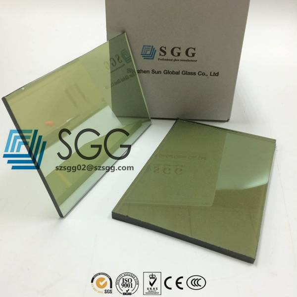 4mm 5mm 5.5mm 6mm 8mm 10mm Light Green Reflective Glass Price