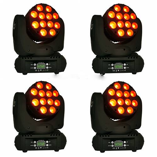 12pcs 4in1 LED moving head beam light