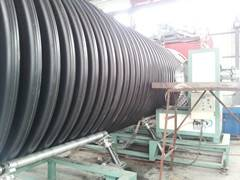 PE spiral winding type corrugated appearance pipe machine