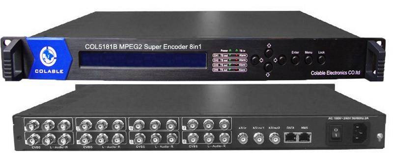 COL5181B 8 Channels MPEG-2 SD Video Encoder