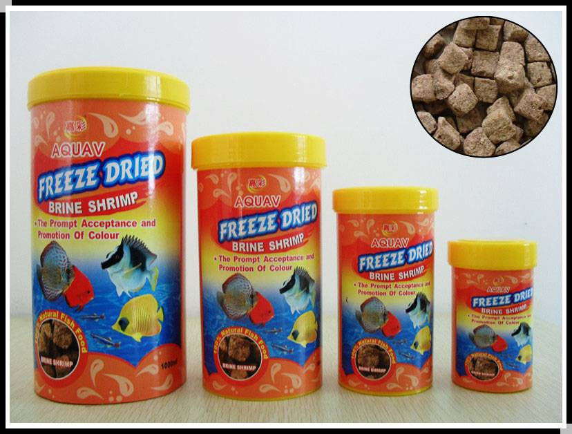 Freeze dried brine shrimp
