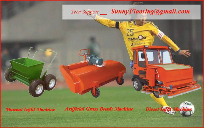 Artificial grass install machine