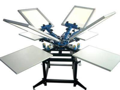4 color and 4 station screen printing machine