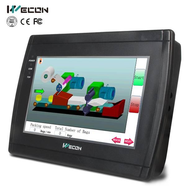 Wecon 7 inch economic hmi/hmi touch screen for brand plc