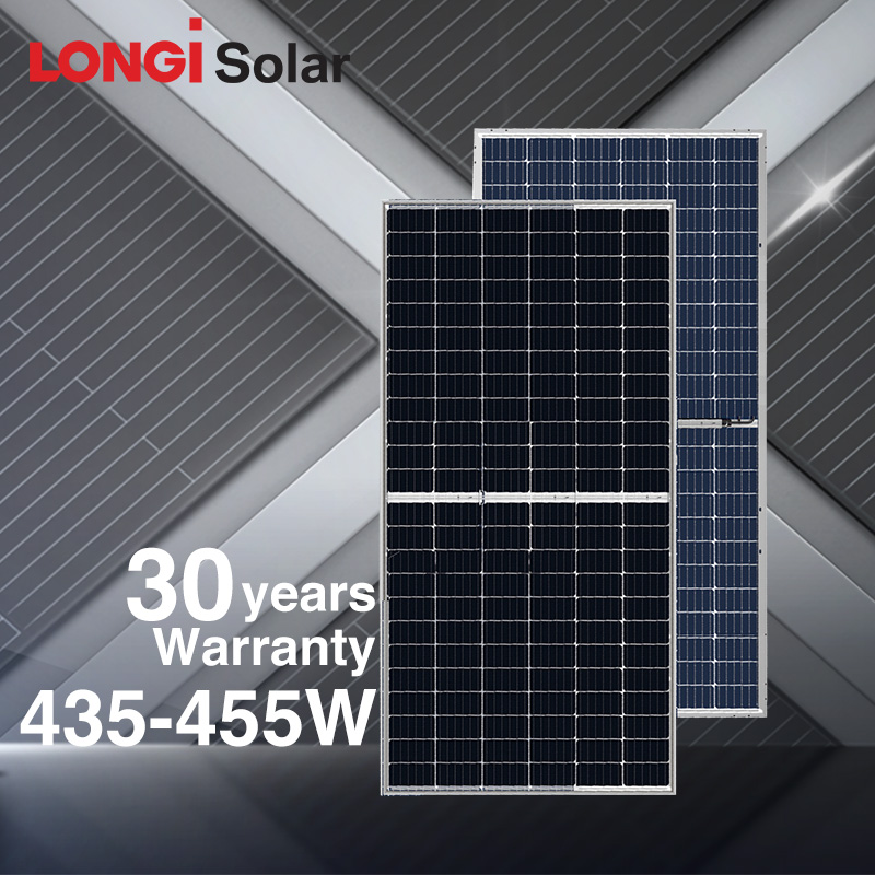 LONGI solar mono half cell 430W 435W 440W 445W 450W 455W 500W solar panel 144 cell double glass bifa