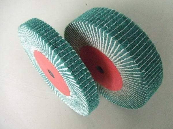 Interleaf Finishing Flap Brushes, interleaved flap wheel, combi flap wheel, flap wheel with sand clo