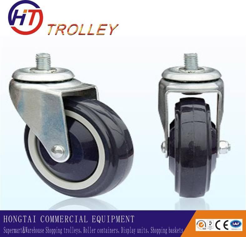 Best Selling  4 Inch 100mm  Black Universal Trolley PU Caster Wheels