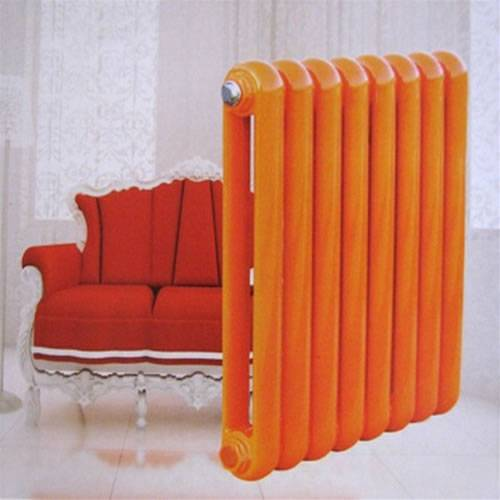 Low-carbon steel radiators with different colours
