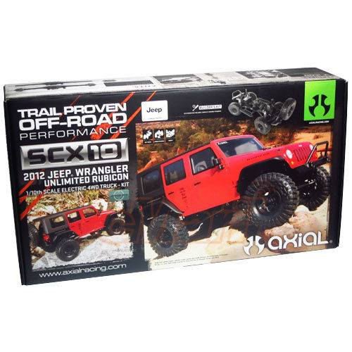 New AX90027 Axial SCX10 2012 Jeep Wrangler Rubicon 1/10 4WD Kit
