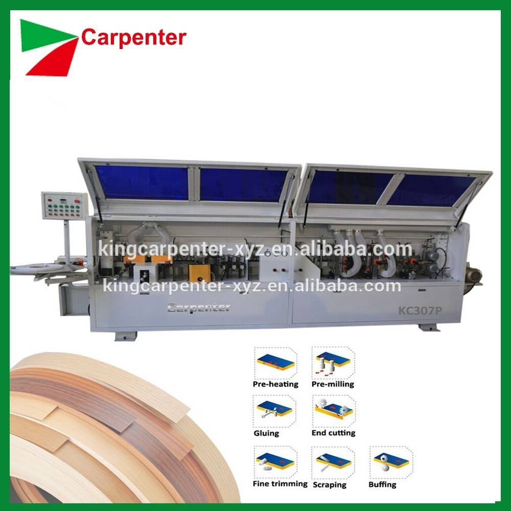 KC307P Full automatic PVC veneer wood edge banding machine for modern furniture with pre-milling