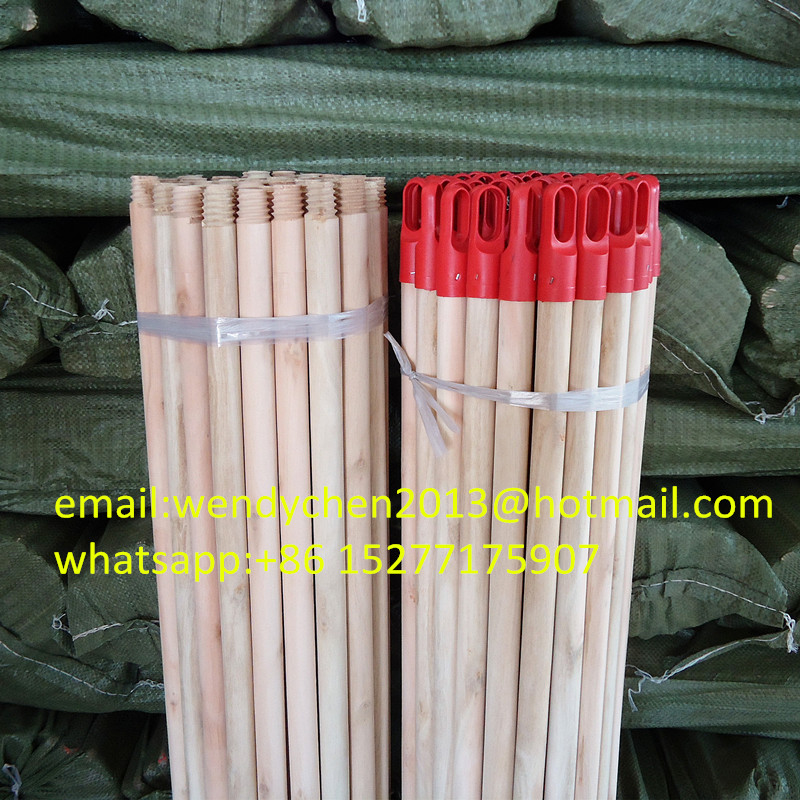 Factory price natural broom handles wholesale with plastic cap