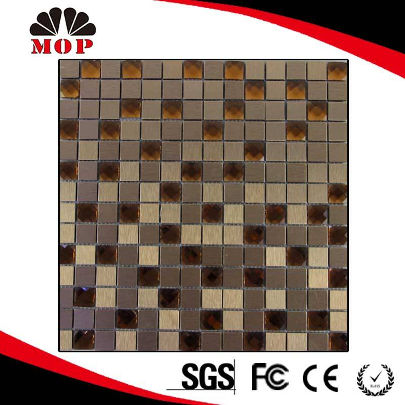 Crystal Glass Metal Mosaic Background Wall Tile