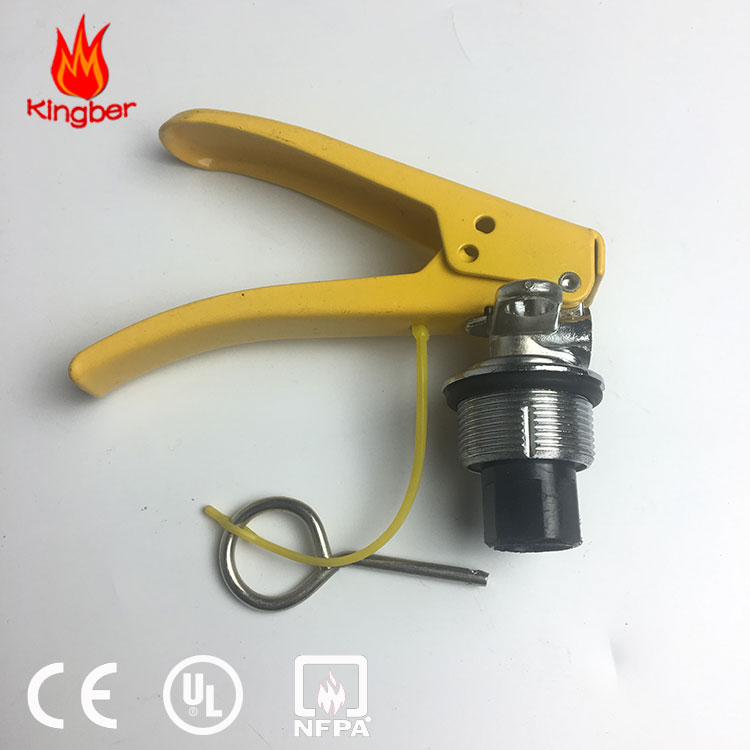 Brass Material Yellow Handle 2KG ABC Dry Powder Fire Extinguisher Valve with Zinc Plated