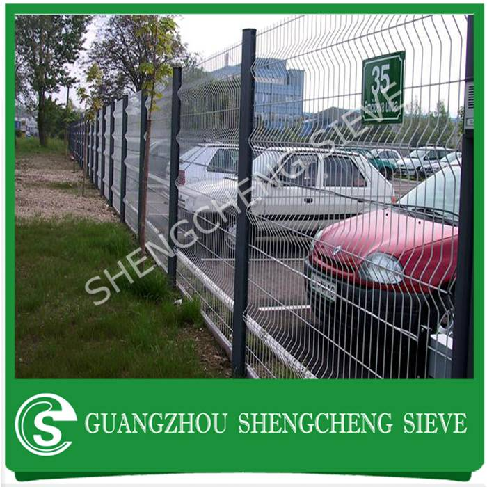 Anti climb security 3d welded wire folding fence for park lot