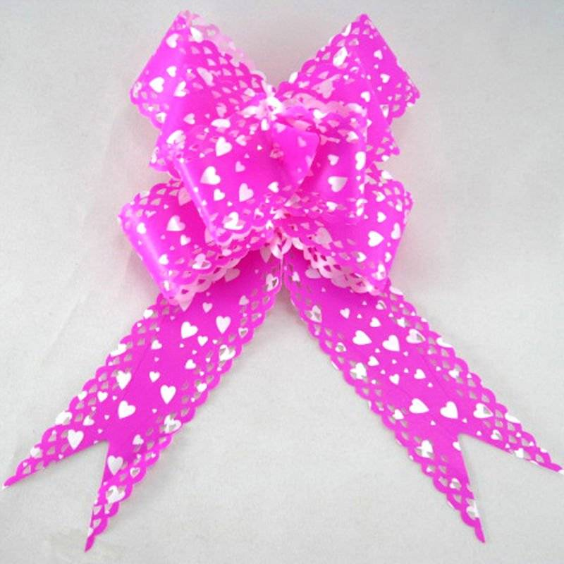 metallic pp ribbon bow
